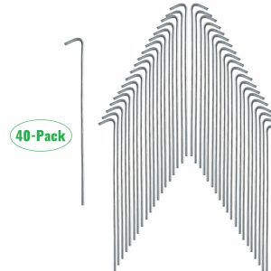 OLPS CAMPING PEGS 10 PACK STRONG QUALITY GALVANISED STEEL TENT GROUND PEGS