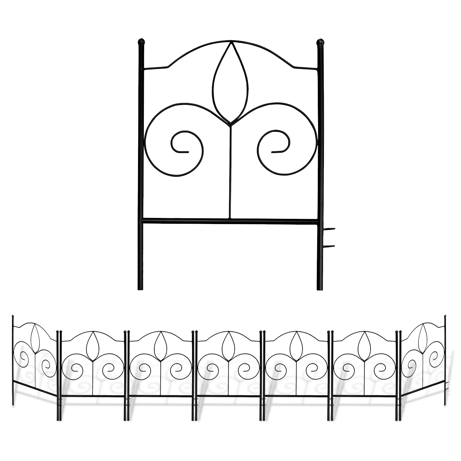 GrayBunny GB-6900WH3 Garden Trellis for Vines and Climbing Plants Black Metal Wire Lattice Grid Panels for Cucumber /& Vegetables Clematis Support Rose Vines Durable /& Sturdy Beautiful Plant Decor